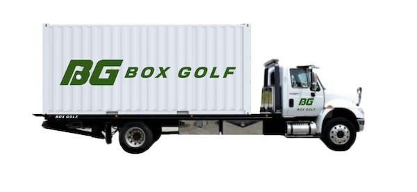 Box Golf Portable Golf Simulator Delivery Truck